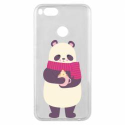 Чехол для Xiaomi Mi A1 Panda and Cappuccino