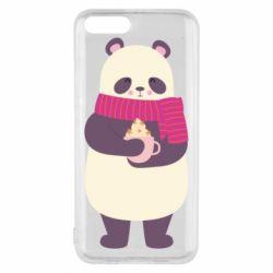 Чехол для Xiaomi Mi6 Panda and Cappuccino