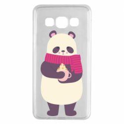 Чехол для Samsung A3 2015 Panda and Cappuccino