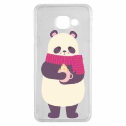 Чехол для Samsung A3 2016 Panda and Cappuccino