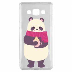 Чехол для Samsung A5 2015 Panda and Cappuccino