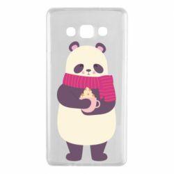 Чехол для Samsung A7 2015 Panda and Cappuccino