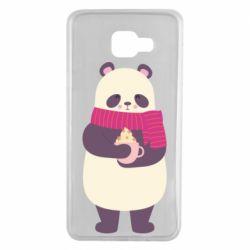 Чехол для Samsung A7 2016 Panda and Cappuccino