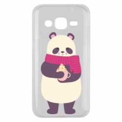 Чехол для Samsung J2 2015 Panda and Cappuccino
