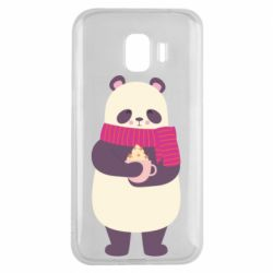 Чехол для Samsung J2 2018 Panda and Cappuccino