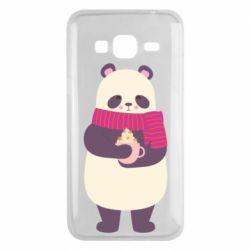 Чехол для Samsung J3 2016 Panda and Cappuccino