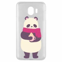 Чехол для Samsung J4 Panda and Cappuccino