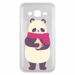 Чехол для Samsung J5 2015 Panda and Cappuccino