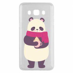Чехол для Samsung J5 2016 Panda and Cappuccino