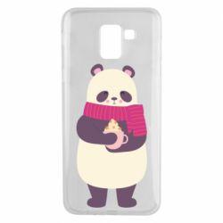 Чехол для Samsung J6 Panda and Cappuccino