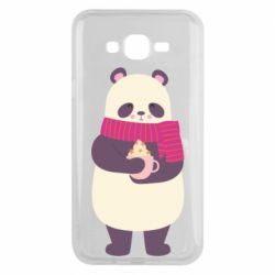 Чехол для Samsung J7 2015 Panda and Cappuccino