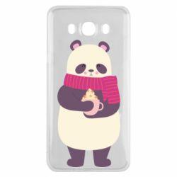 Чехол для Samsung J7 2016 Panda and Cappuccino