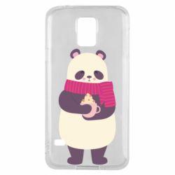 Чехол для Samsung S5 Panda and Cappuccino