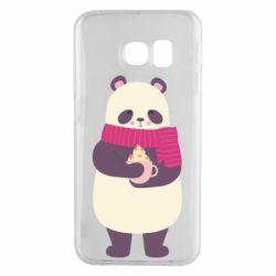 Чехол для Samsung S6 EDGE Panda and Cappuccino