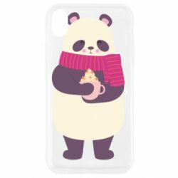 Чехол для iPhone XR Panda and Cappuccino
