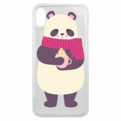 Чехол для iPhone Xs Max Panda and Cappuccino