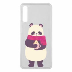 Чехол для Samsung A7 2018 Panda and Cappuccino
