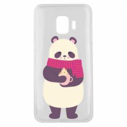 Чехол для Samsung J2 Core Panda and Cappuccino