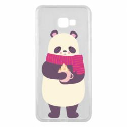 Чехол для Samsung J4 Plus 2018 Panda and Cappuccino