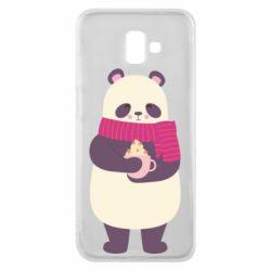 Чехол для Samsung J6 Plus 2018 Panda and Cappuccino
