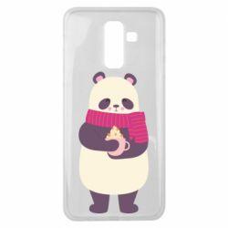 Чехол для Samsung J8 2018 Panda and Cappuccino