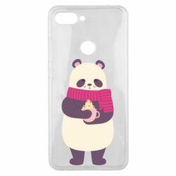 Чехол для Xiaomi Mi8 Lite Panda and Cappuccino