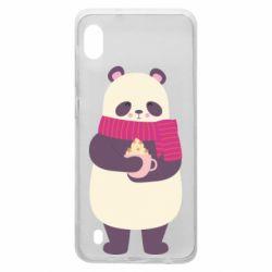 Чехол для Samsung A10 Panda and Cappuccino