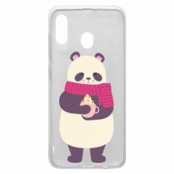 Чехол для Samsung A20 Panda and Cappuccino