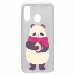 Чехол для Samsung A40 Panda and Cappuccino