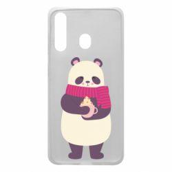 Чехол для Samsung A60 Panda and Cappuccino
