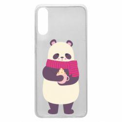 Чехол для Samsung A70 Panda and Cappuccino