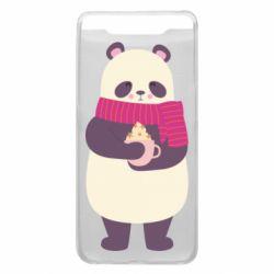 Чехол для Samsung A80 Panda and Cappuccino