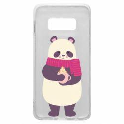 Чехол для Samsung S10e Panda and Cappuccino