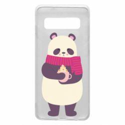 Чехол для Samsung S10 Panda and Cappuccino