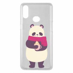Чехол для Samsung A10s Panda and Cappuccino