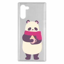 Чехол для Samsung Note 10 Panda and Cappuccino