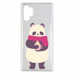Чехол для Samsung Note 10 Plus Panda and Cappuccino