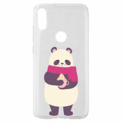 Чехол для Xiaomi Mi Play Panda and Cappuccino