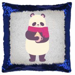 Подушка-хамелеон Panda and Cappuccino