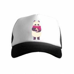 Детская кепка-тракер Panda and Cappuccino