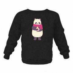 Детский реглан (свитшот) Panda and Cappuccino