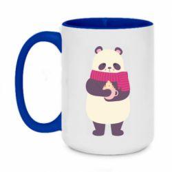 Кружка двухцветная 420ml Panda and Cappuccino