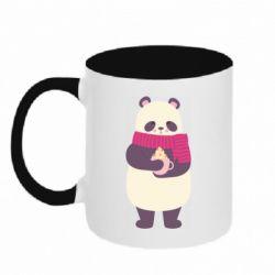 Кружка двухцветная 320ml Panda and Cappuccino