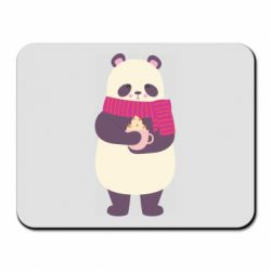 Коврик для мыши Panda and Cappuccino