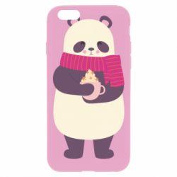 Чехол для iPhone 6 Plus/6S Plus Panda and Cappuccino