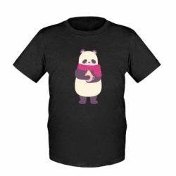 Детская футболка Panda and Cappuccino