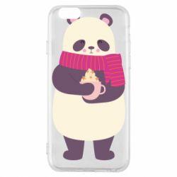 Чехол для iPhone 6/6S Panda and Cappuccino