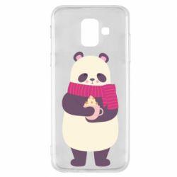 Чехол для Samsung A6 2018 Panda and Cappuccino