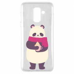 Чехол для Samsung A6+ 2018 Panda and Cappuccino