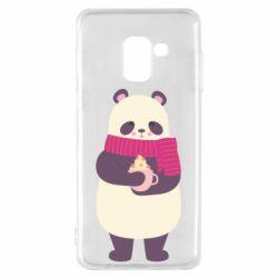 Чехол для Samsung A8 2018 Panda and Cappuccino